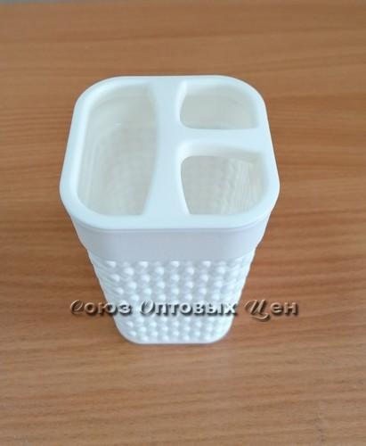 подставка д/зубн щеток OSLO молочный 1344