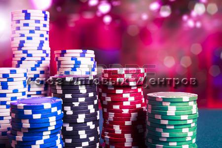 Фишки для покера 5 цветов (100шт)