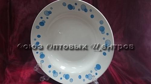 тарелка 200 гл гр6 Синий горох 055