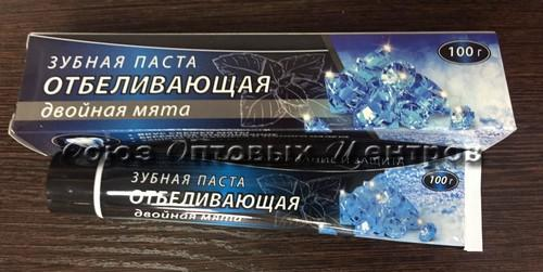 Зуб. паста ОТБЕЛИВАЮЩАЯ Двойная мята 100гр футляр /45шт