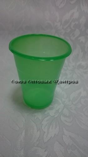 стакан 200мл Эконом зеленый 100/4200 м