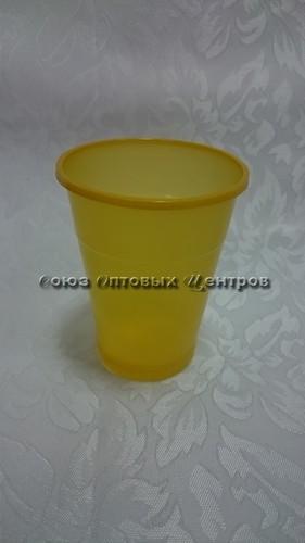 стакан 200мл Эконом желтый 100/4200 м
