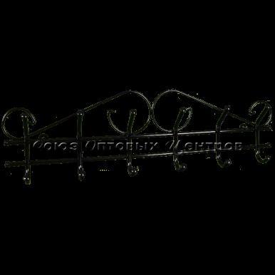 Вешалка Ажур 6 черный (Арт. ВНА 201 Ч)
