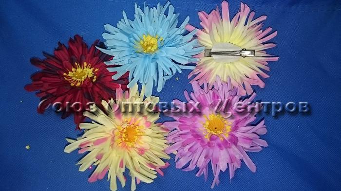 """зажим для волос """"цветок""""   11см K-177/24 /1200/"""