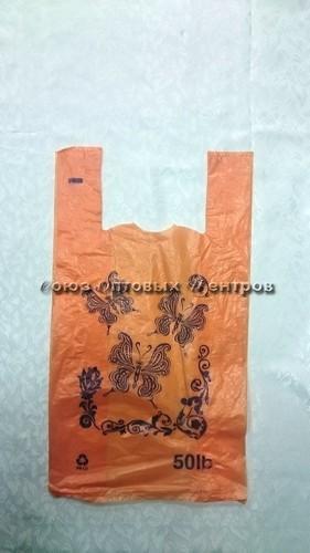 Пакет майка ПНД БАБОЧКА 46*55, 20 мкм (100/2000) П0083