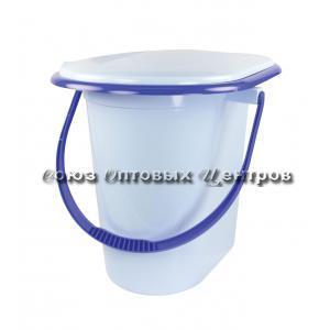 Ведро-туалет 17л голубое (10) М1320