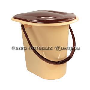 Ведро-туалет 17л коричневое (10) М1319