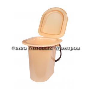 Ведро-туалет 18л бежевое (10) М1525