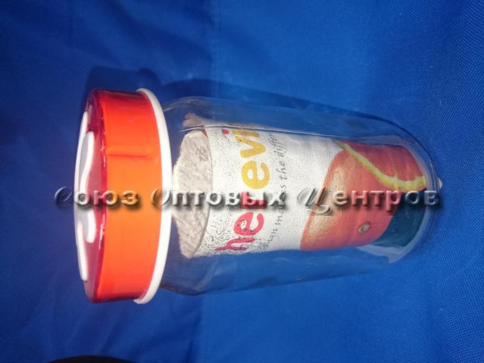 Банка д/сып продуктов 1000 мл 135377-007 оранж. крышка