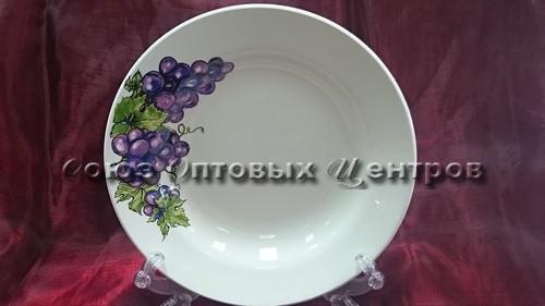 тарелка 200 гл гр8 Виноград 055 уп20шт