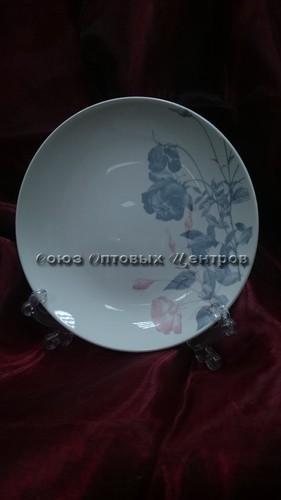 """Тарелка Соната 190 мм, гр. 8, """"Серебристые розы"""" 061 уп/20 шт."""