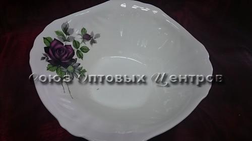 """Миска четырехугольная, гр. 8, """"Черная роза"""" 0152/уп12"""