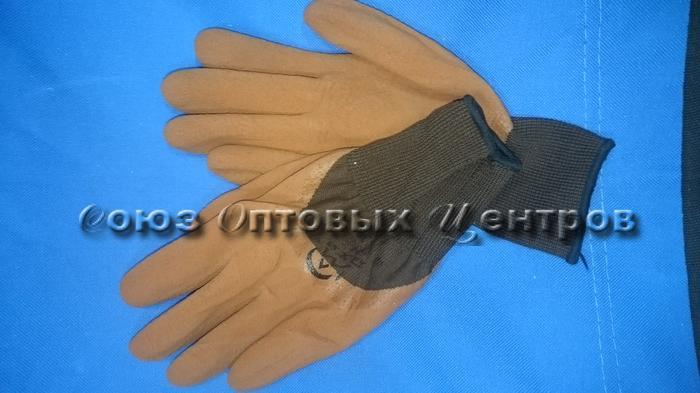 Перчатки облитые коричневые/720/12 (Арт. 670)