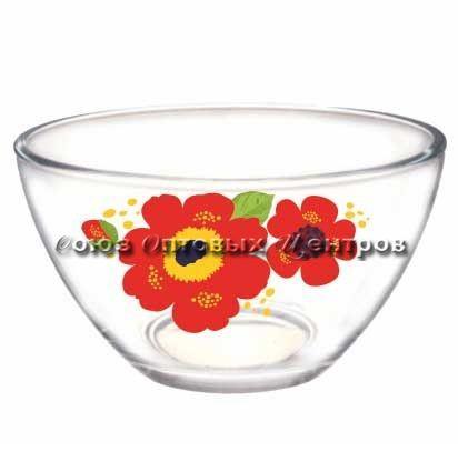 салатник Гладкий 10с1542 13 см Яркие цветы уп/12шт