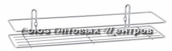 полка настенная 1-ярусная хром (7,5*35*13) АЛТ 45С уп/6