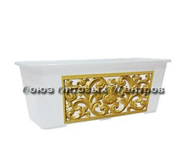 Ящик балконный 60 см Барельеф ING1810БР
