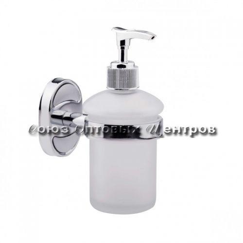 дозатор для жидкого мыла настенный хром/стекло P2927