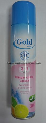 Нейтрализатор запаха  GOLD МINT Антитабак 300мл 405см3 (52-200)