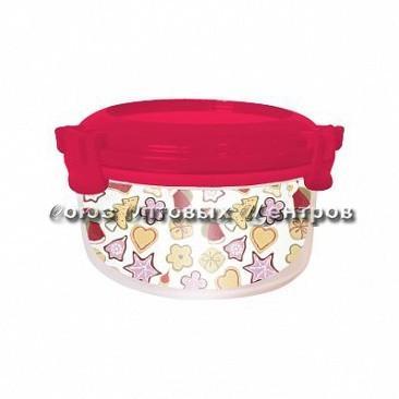 Емкость д/продук Fresco круглая 0,4л имбирное печенье сладкая малина 1892