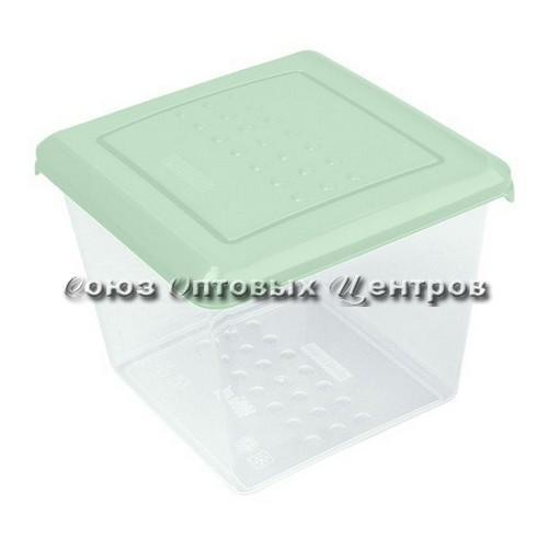 Емкость для хранения продуктов PATTERN квадратная 1л мятный РТ1097