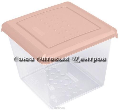 Емкость для хранения продуктов PATTERN квадратная 1л пудровый РТ1097
