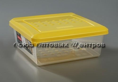 Емкость для хранения продуктов PATTERN квадратная (26) 0.5л охровый РТ1096