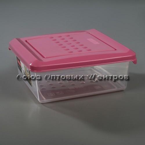 Емкость для хранения продуктов PATTERN квадратная (26) 0.5л пурпурный РТ1096