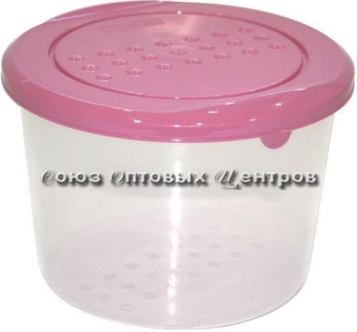 Емкость для хранения продуктов PATTERN круглая 0.8л пурпурный  РТ1099