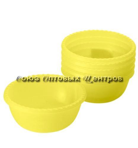 миска 0,4л Фазенда желтый прозр  (наб/6шт) 2310
