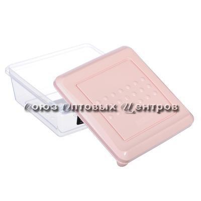 Емкость для хранения продуктов PATTERN квадрат 0,5л пудровый  РТ1096