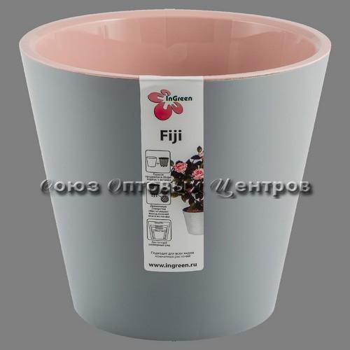 Горшок для цветов ФИДЖИ пепельный 230мм /5л ING1555ПЕП