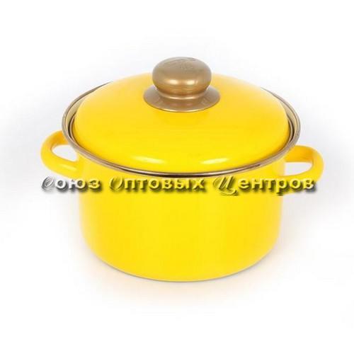 Кастрюля 4л цил желтая 07-Б1614 код 000538