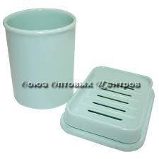 Набор стаканчик и мыльница мятный РТ1315МТ-12