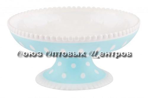 Ваза Горошек бело-голубой М7019
