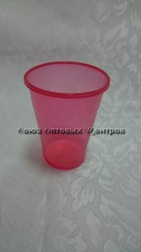 стакан 200мл Эконом красный 100/4200 М