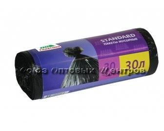 МП Пакет для мусора в рулоне /С/ Пакман 30л. 6,5мкр.(30шт)/80/ 1476