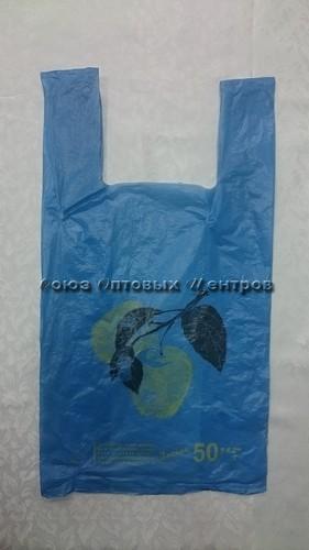 Пакет майка пнд ЯБЛОКО 46*60 (100/2000) 14мкр 21030