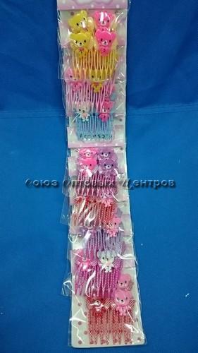 гребешок для волос  на лист-20 шт AM-286 /12/360/