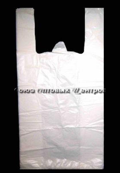 пакет майка белая 28*50см 14мк 50/3000