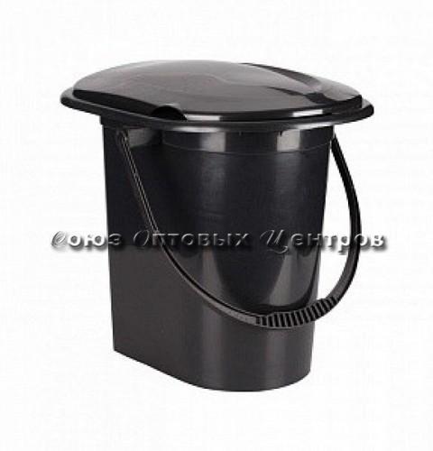 Ведро-туалет 17,0л черный эконом М6355