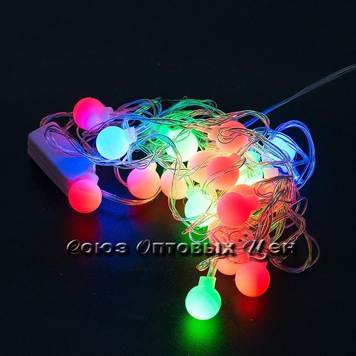 Гирлянда светодиодная, 20 ламп, 4м, 220v