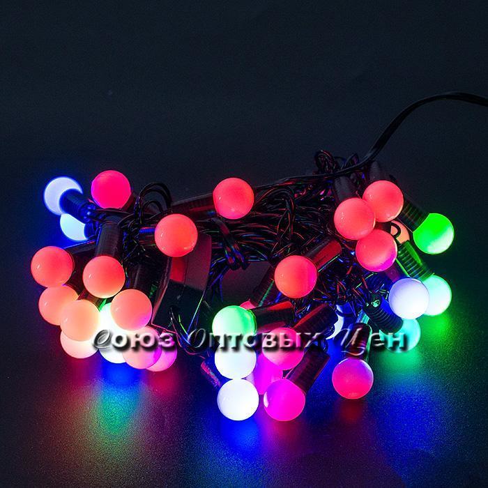 Гирлянда светодиодная, 40 ламп, 5м, 220v