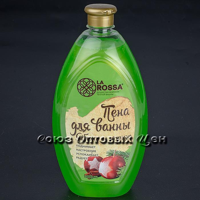 Пена для ванн увлажняющая Яблоко и корица 1л (РК), ЛА РОССА, арт. 2851