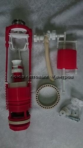 арматура кнопочная с бок. подводкой унив. 2-х ур.АС-11.1М(хром)